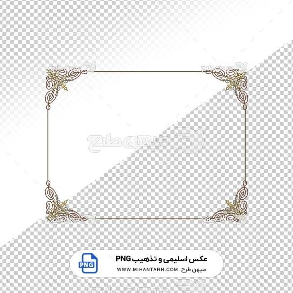 عکس برش خورده اسلیمی و تذهیب حاشیه طرح قاب