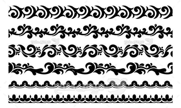 وکتور حاشیه اسلیمی و تذهیب نقش هنری
