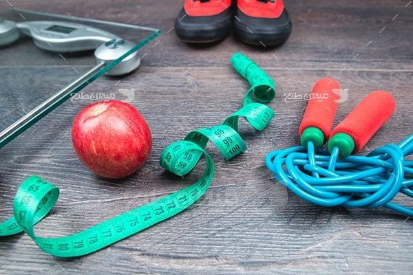 عکس تبلیغاتی ورزش طناب