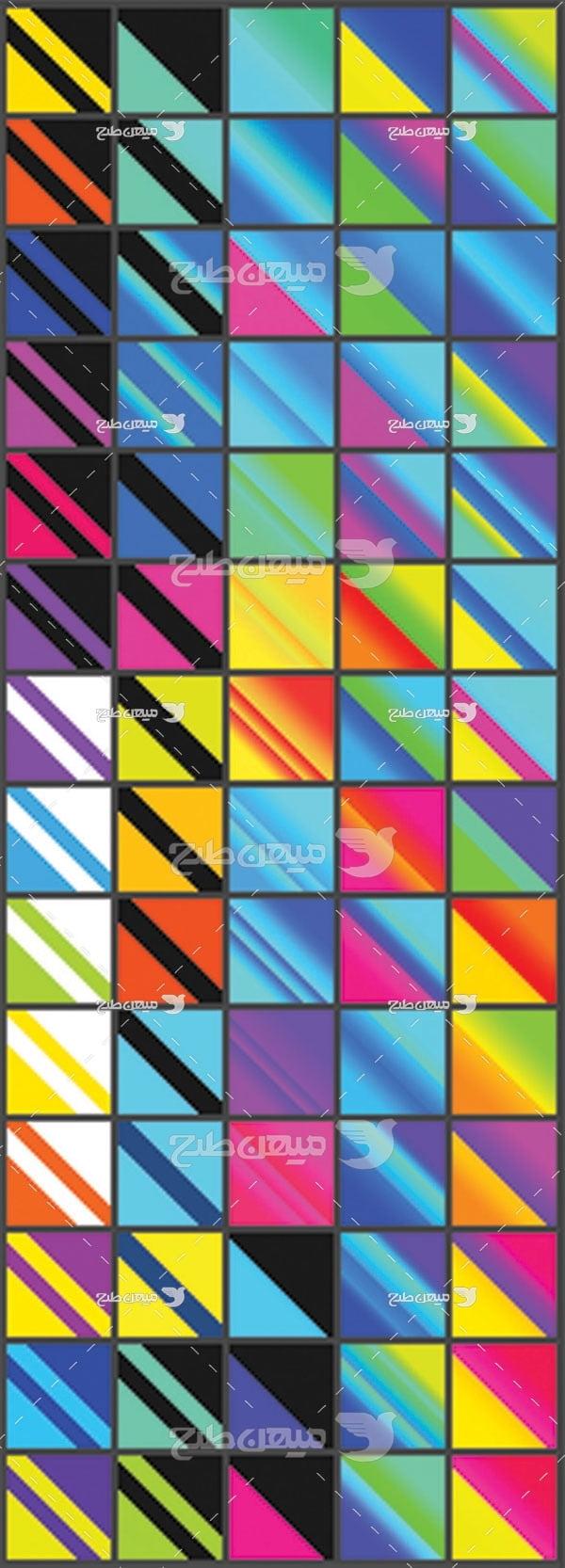 مجموعه ابزارهای فتوشاپ گرادینت هاشور رنگی