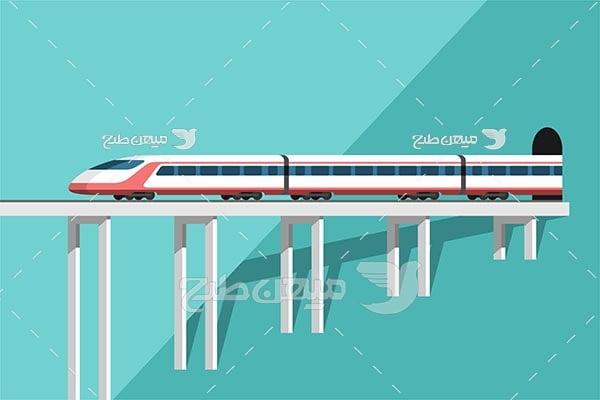 وکتور قطار مسافربری