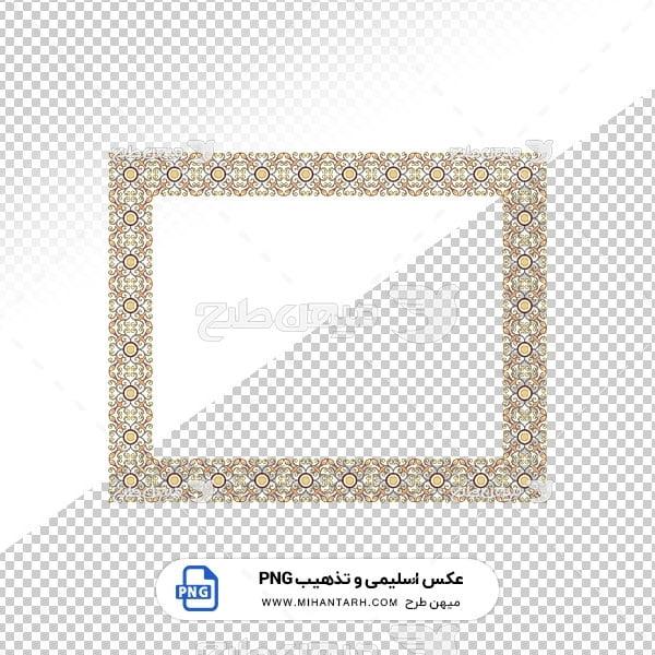 عکس برش خورده اسلیمی و تذهیب قاب با طرح گل دایره