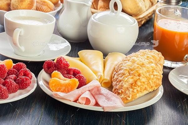 عکس تبلیغاتی غذا و صبحانه