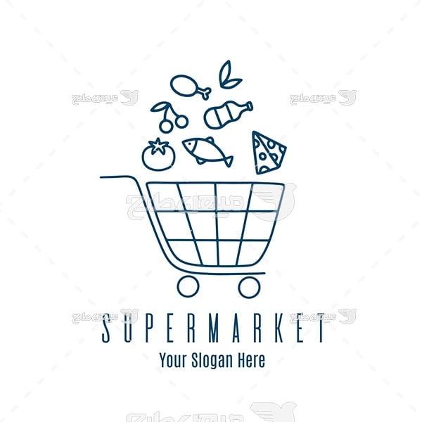 لوگو و آیکن فروشگاه زنجیره ای مواد غذایی