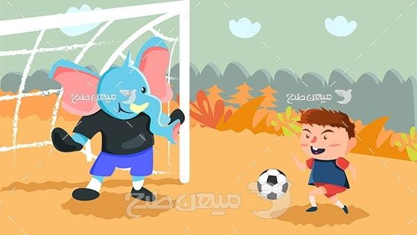 وکتور فوتبال کارتونی