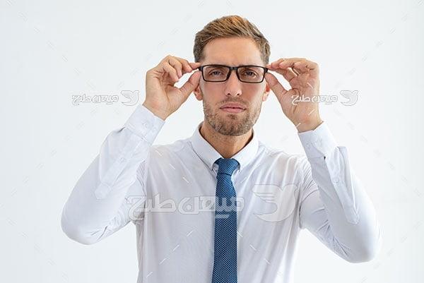 عکس عینک طبی مردانه