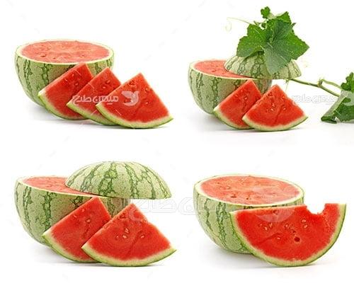 عکس تبلیغاتی غذا و هندوانه برش خورده