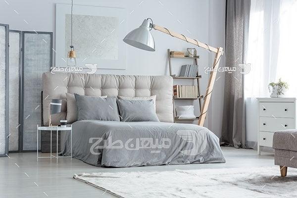عکس اتاق خواب با دکور خاکستری