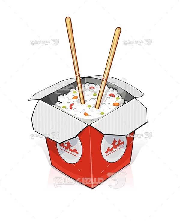 وکتور غذای چینی