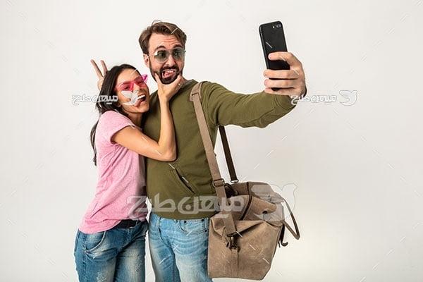 عکس زوج توریست