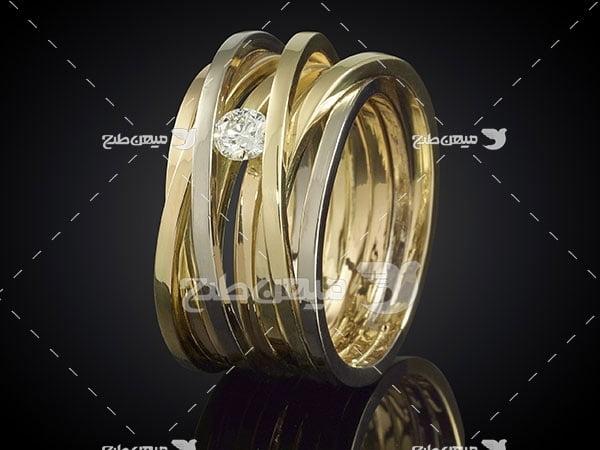 عکس تبلیغاتی جواهرحلقه الماس نشان