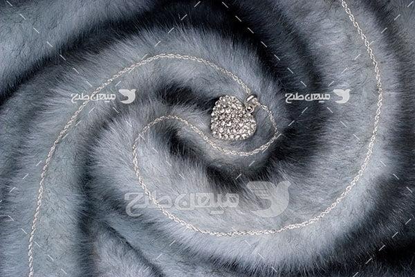 عکس گردنبند نگین الماس
