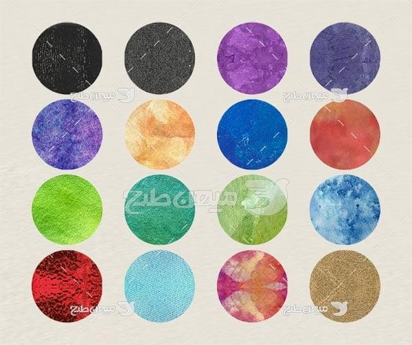 مجموعه ابزارهای فتوشاپ پترن دایره رنگی