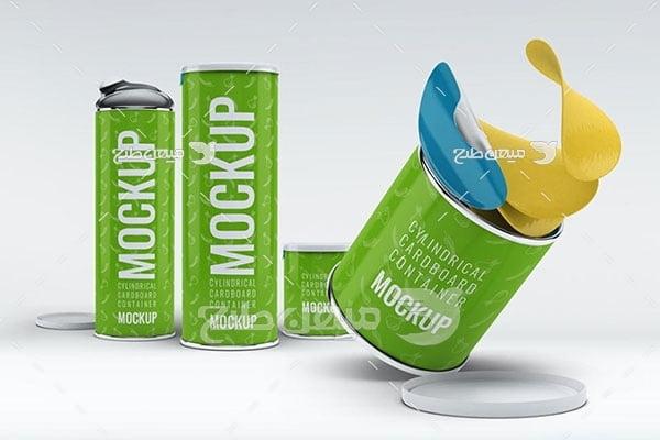 موکاپ قوطی مواد غذایی