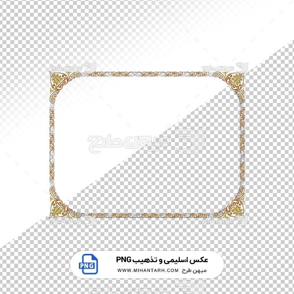 عکس برش خورده اسلیمی و تذهیب قاب با حاشیه طرح ظریف