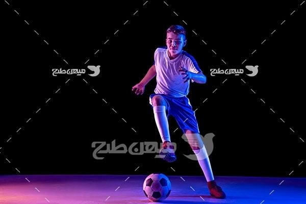 عکس پسر فوتبالیست