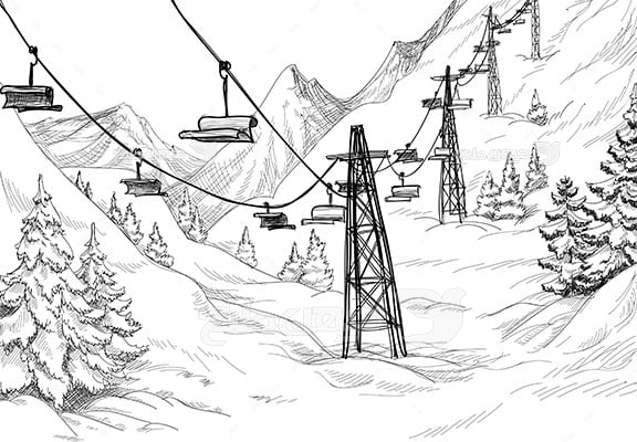 وکتور کاراکتر طبیعت زمستان