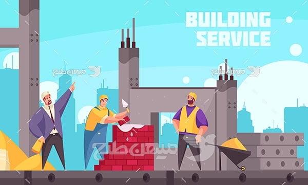 وکتور سرویس ساخت و ساز