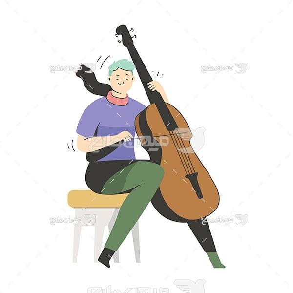 وکتور نوازنده ویولن سل
