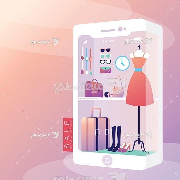 وکتور فروشه آنلاین پوشاک و البسه