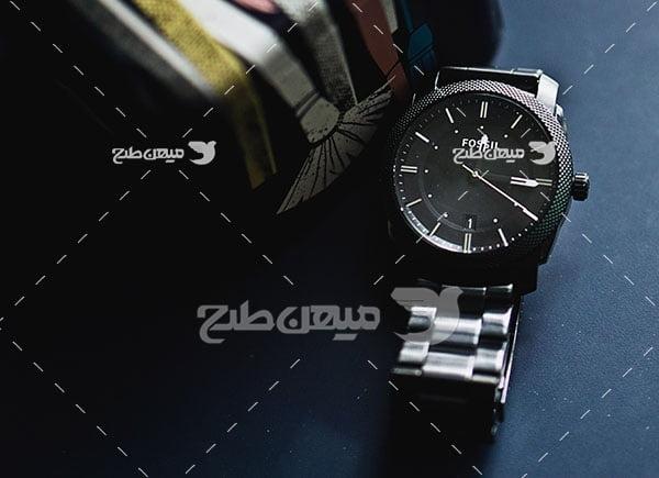 عکس ساعت مچی بند فلزی مشکی