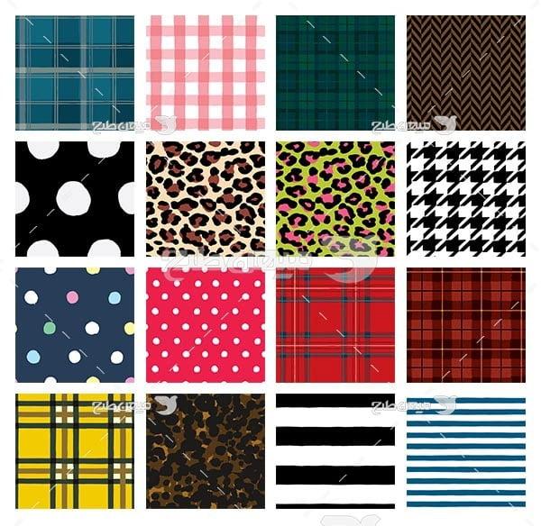مجموعه ابزارهای فتوشاپ پترن طرح چهارخانه رنگی