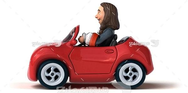 عکس آموزش رانندگی ماشین
