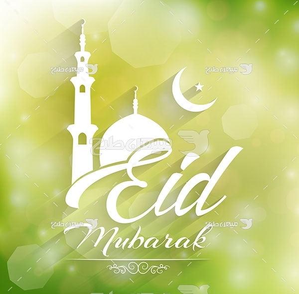 وکتور عید مسلمانان