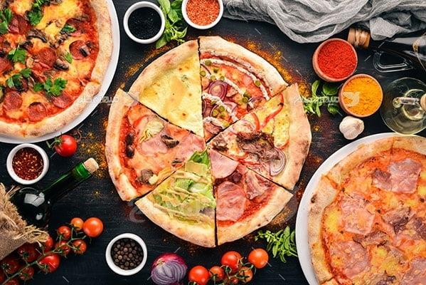 عکس تبلیغاتی غذا پیتزا