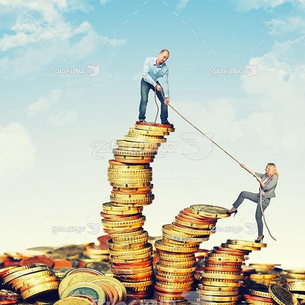 عکس سکه و اوراق بهادار