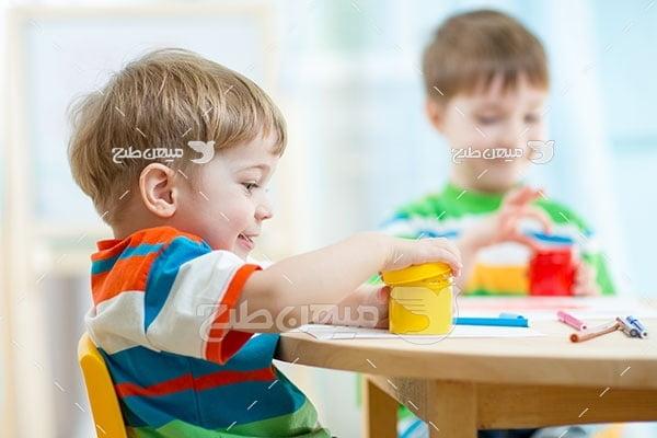 عکس تبلیغاتی کودکان در مهد