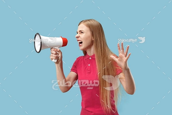 عکس زن عصبانی