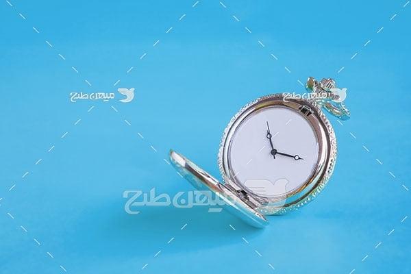عکس ساعت جیبی نقره