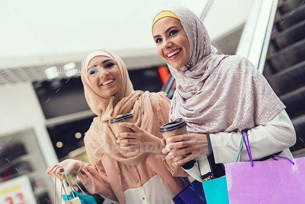 عکس تبلیغاتی حجاب وخرید کردن