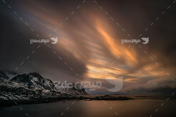 عکس تبلیغاتی طبیعت آسمان و طلوع