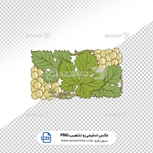 عکس برش خورده اسلیمی و تذهیب طرح برگ و انگور