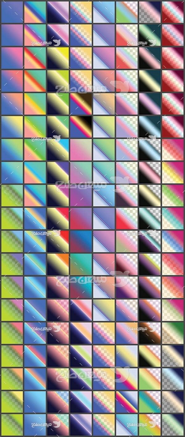 مجموعه ابزارهای فتوشاپ گرادینت طیف مورب