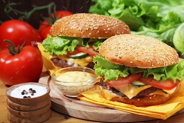عکس تبلیغاتی غذا و همبرگر