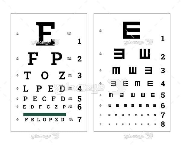 وکتور تست بینایی سنجی