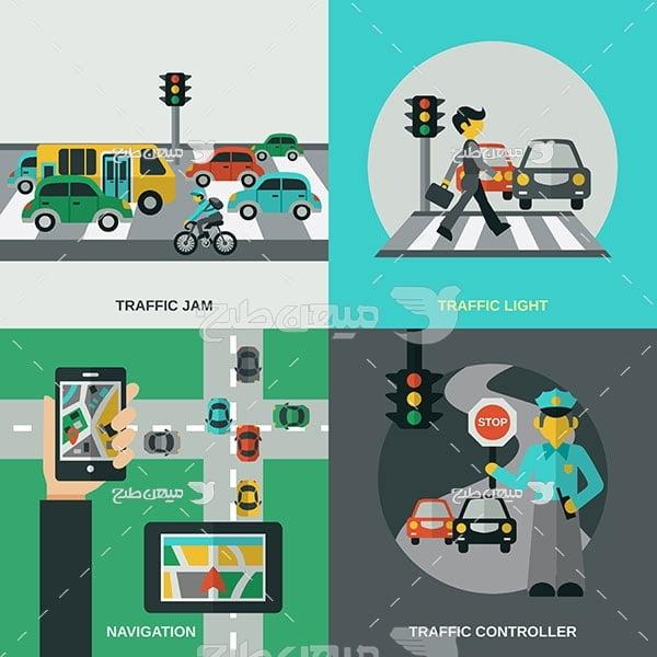 وکتور آموزش راهنمایی و رانندگی