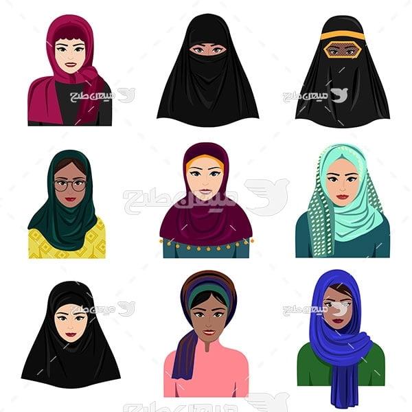 وکتور زن مسلمان