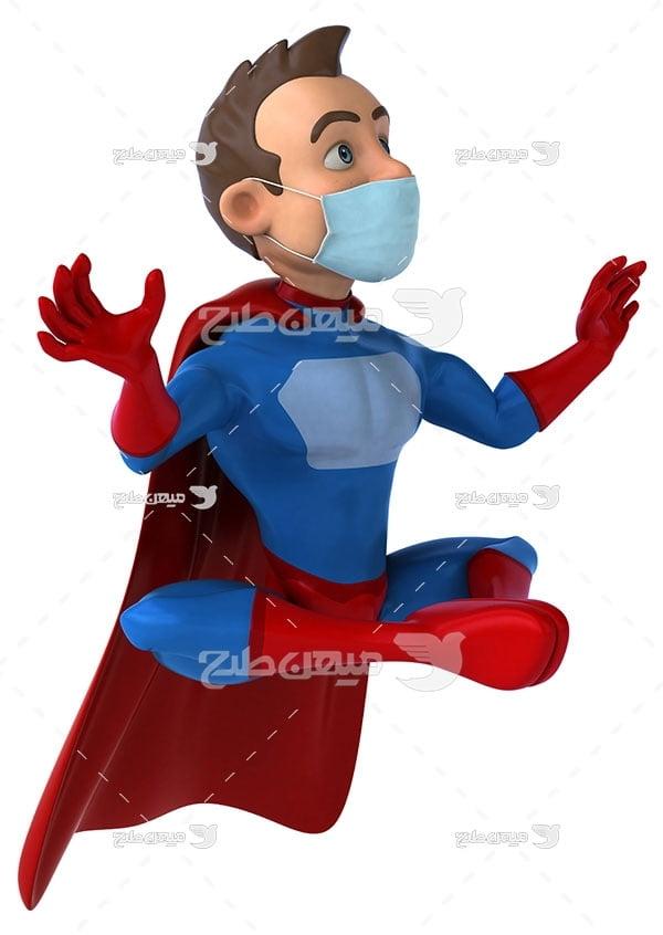 عکس ابر قهرمان ماسک زده
