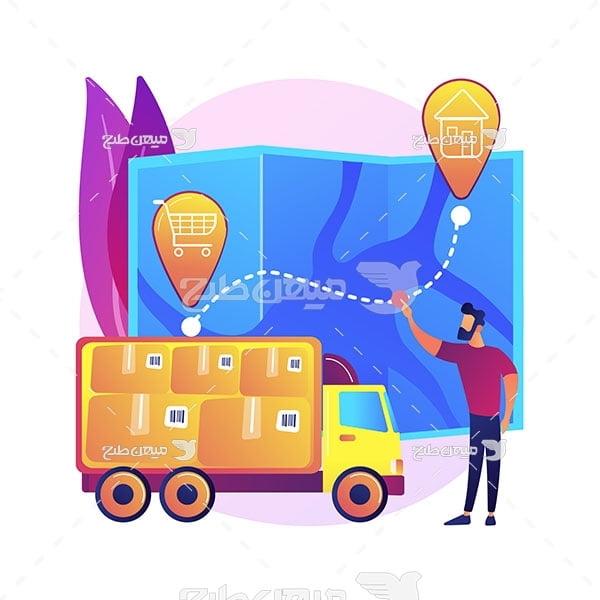 وکتور خدمات حمل و نقل