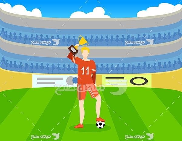 وکتور ورزش فوتبال