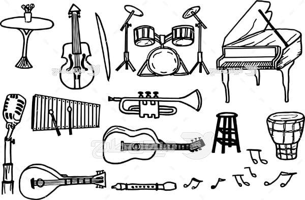 وکتور آلات موسیقی