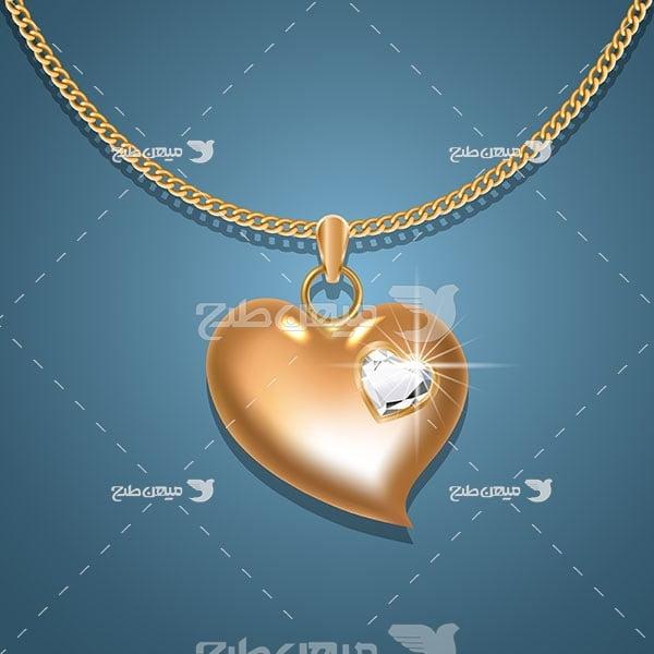 وکتور گردنبند طلا