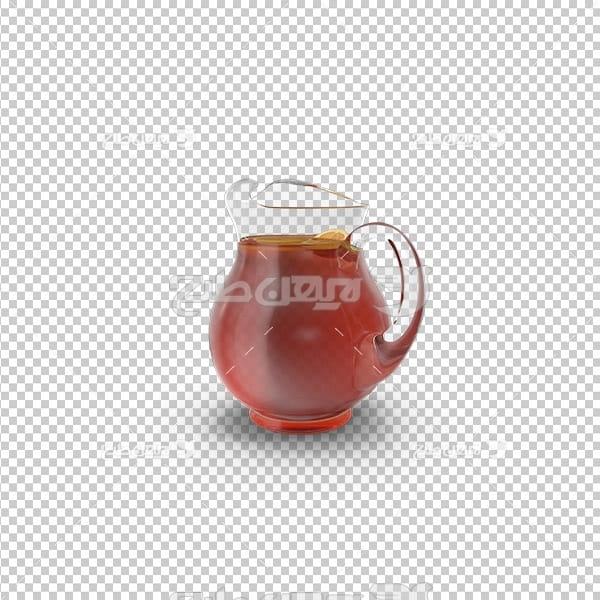 تصویردوربری سه بعدی پارچ نوشیدنی