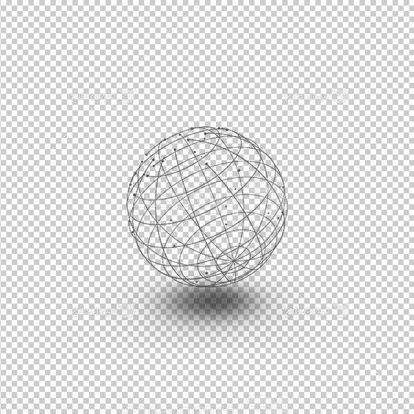 عکس برش خورده سه بعدی کره زمین