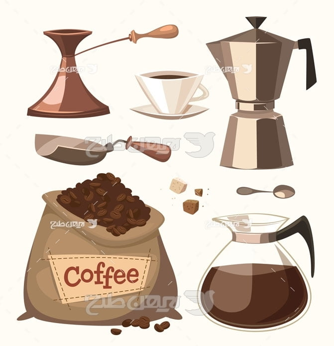 وکتور قهوه و قهوه ساز