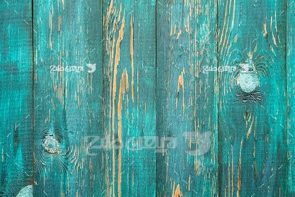 تصویر بگراند چوب و تکسچر آبی
